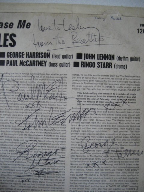 Paul McCartney Signed fake 3 Beatles signature 1963 LP