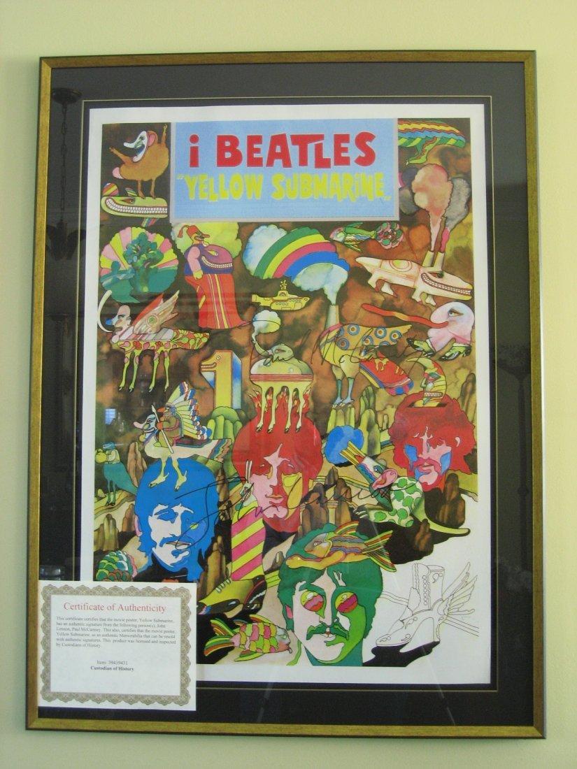 Yellow Submarine Poster signed P MacCartney/John Lennon