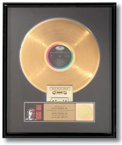 John Lennon LIVE IN NEW YORK CITY Gold Album RIAA Rare