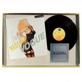 """Madonna rare ( 4 ) items signed """"Vogue to Dick Clark"""""""