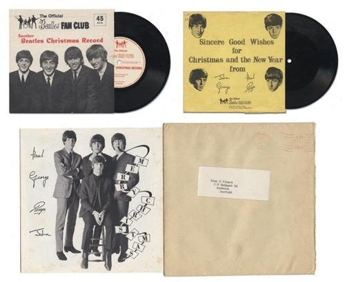 Beatles Rare fan club disc /ALBUM + 6 NEW CALENDER (12)