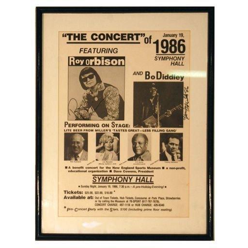 Roy Orbison/Bo Diddley Signed+1961 R Orbison POSTER(2)