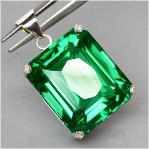 52.05ct Sterling Pendant Emerald Top Green Amethyst