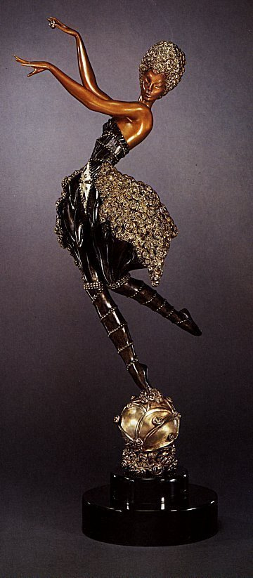 Erte Rose Dancer  Original Ltd Ed Bronze COA