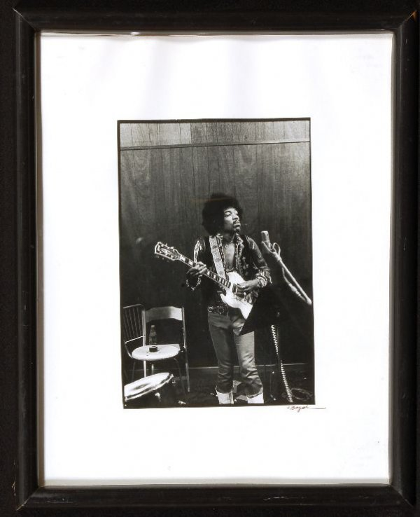 Jimi Hendrix B/W Rare studio Photo From Dick Clark Col