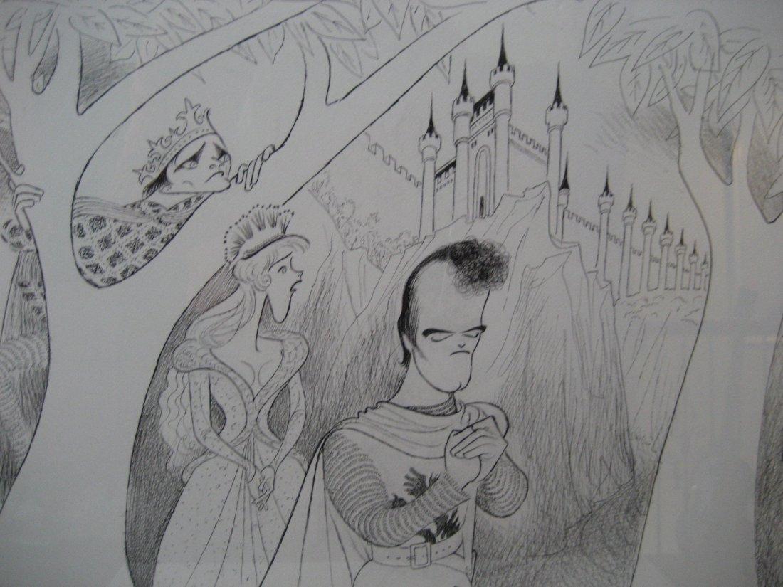 Al Hirschfeld original Robert Goulet Estate Camelot - 3