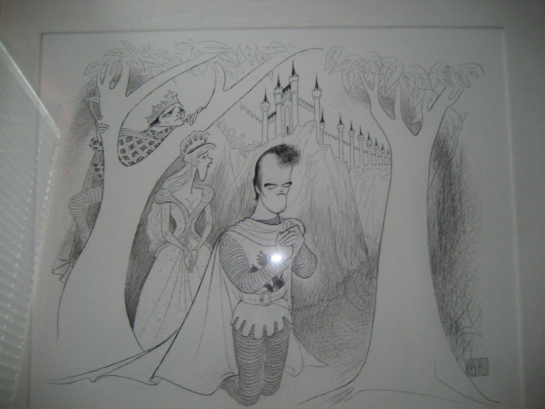 Al Hirschfeld original Robert Goulet Estate Camelot - 4
