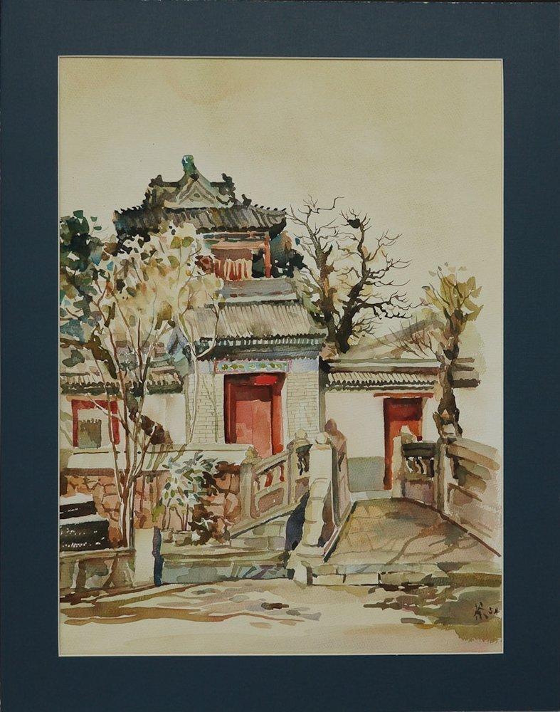 BEAUTIFUL CHINESE PAINTING BY WU GUANZHONG 1954