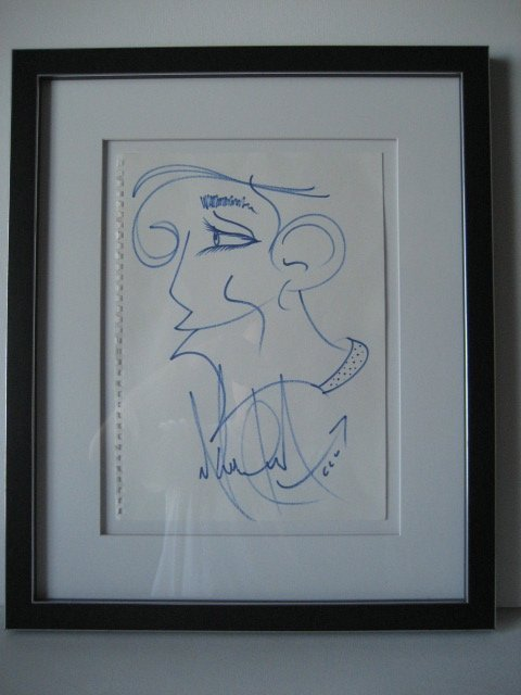 Fine Michael Jackson Stunning Drawing Signed