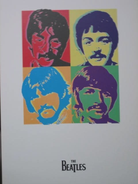 ANDY WARHOL STYLE RARE BEATLES CARD BOARD POSTER