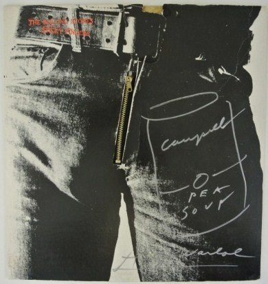 ANDY WARHOL DRAWING ON THE ROLLING STONES STICKY FINGER