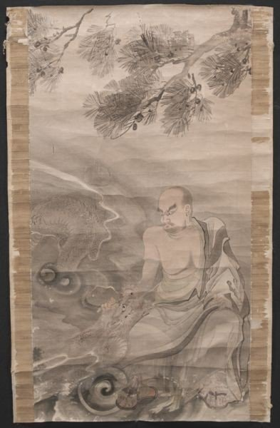 Rare Chinese Qing Dynasty watercolor painting Circa18th