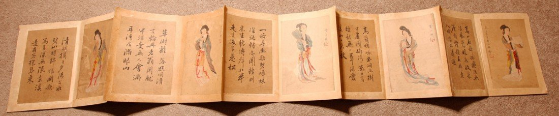 CHINESE PAINTING ALBUM BY FEI YIGENG 19 TH