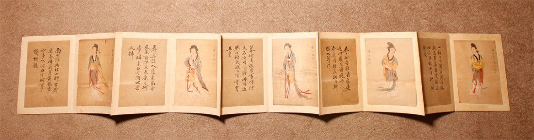 RARE CHINESE PAINTING ALBUM BY FEI DANXU 19th