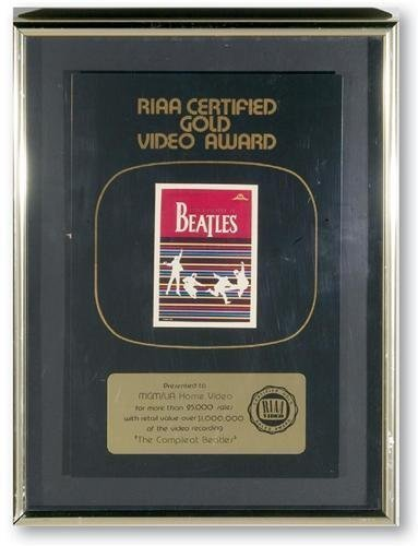 """The Beatles """"The Complet Beatles"""" RIAA Video Award"""