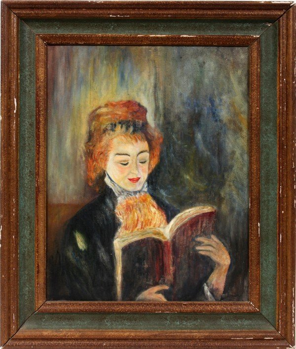 """STUDY AFTER RENOIR, OIL ON CANVAS, 20"""" X 16"""", WOMAN"""