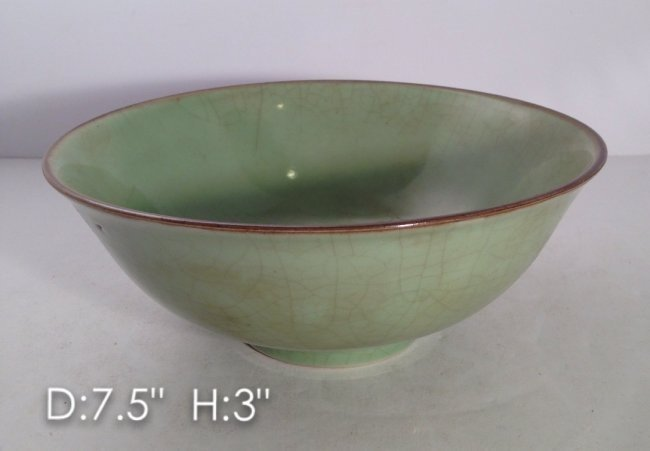Rare Great Ming Crackle Bowl Ming Xuande Mark