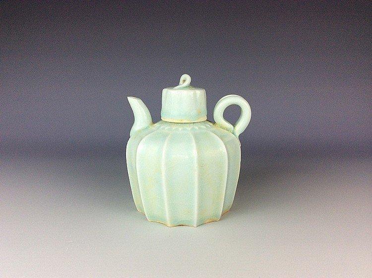 Chinese ridged melon Qingbai blue rare porcelain Song