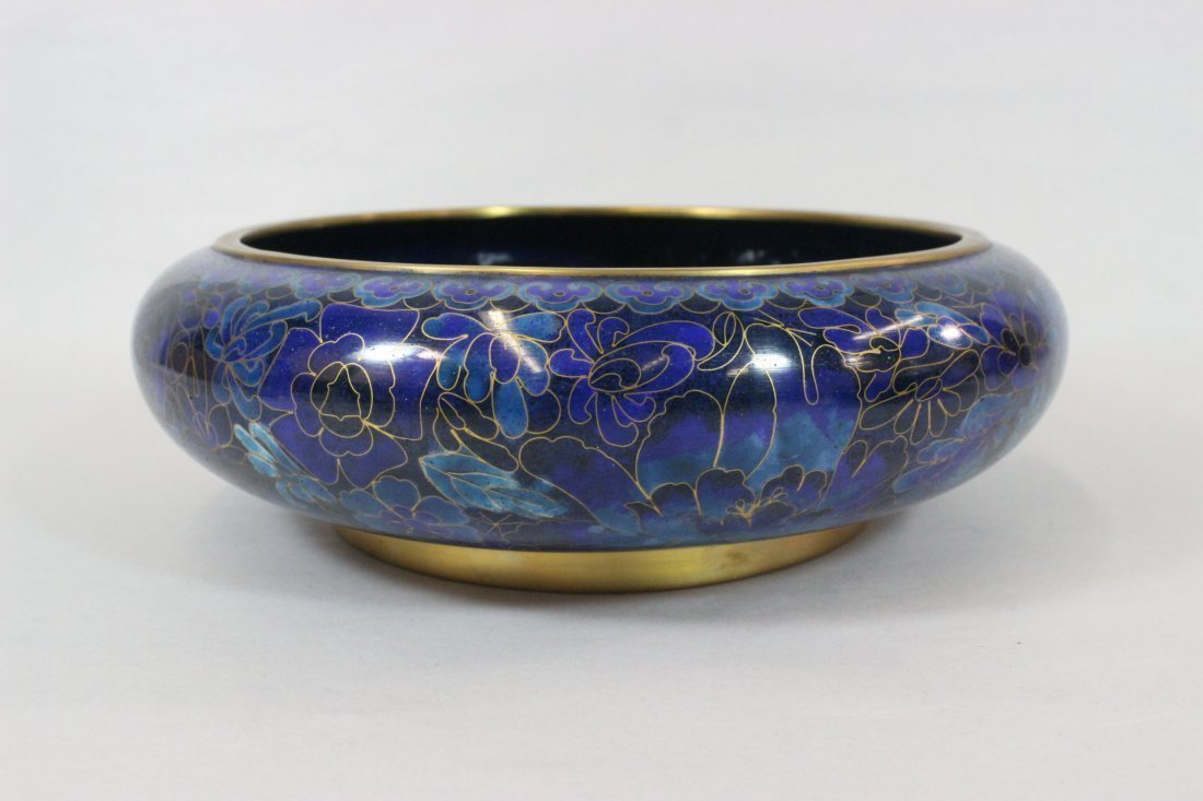 Exquisite Large Chinese Cloisonne Bowl VINTAGE