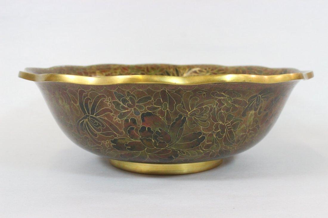 Wonderful Large Chinese Cloisonne Bowl ( Vintage )