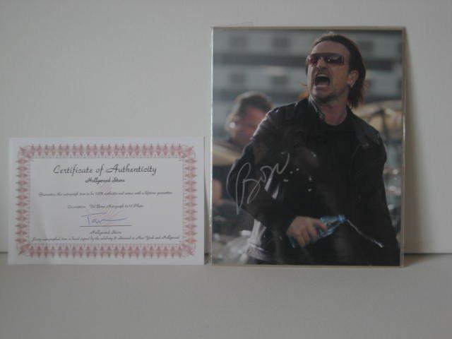 Bono U2 Original Signed On Stage Photo COA