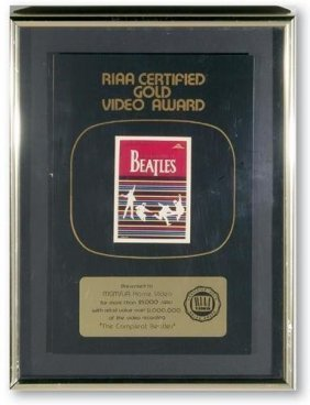 "The Beatles ""The Complet Beatles"" RIAA Video Award"