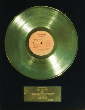 Bob Seger Live Bullet Gold Award To Bill Bartlett 1976