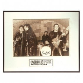 THE BEATLES 1961 PHOTO PETE BEST SIGNED FRAMED