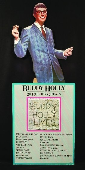 Buddy Holly Life Size Standee From Dick Clark COLL COA