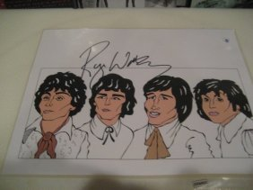 Roger Water Original signed Print Drawing of Pink Floyd