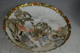 Wonderful Rare Egg Shell Chinese Dish Qing Dynasty 18th