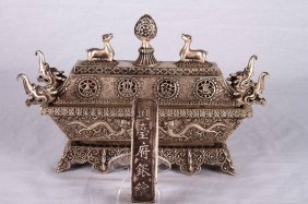 RARE SILVER CENCER QING DYNASTY WITH ANTIQUE COIN