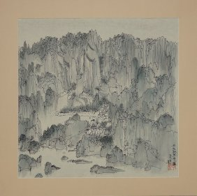 ATTRIBUTED: CHINESE PAINTING MASTER WU GUANZHONG 1978