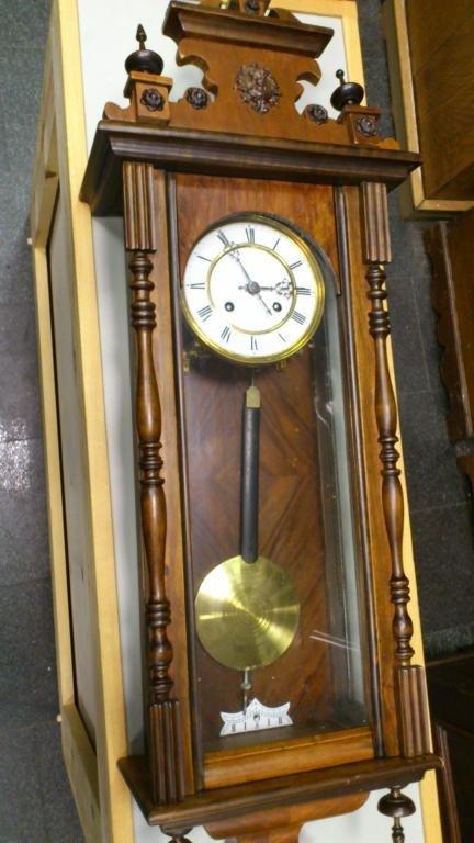 ANTIQUE WALL CLOCK  19 CT.