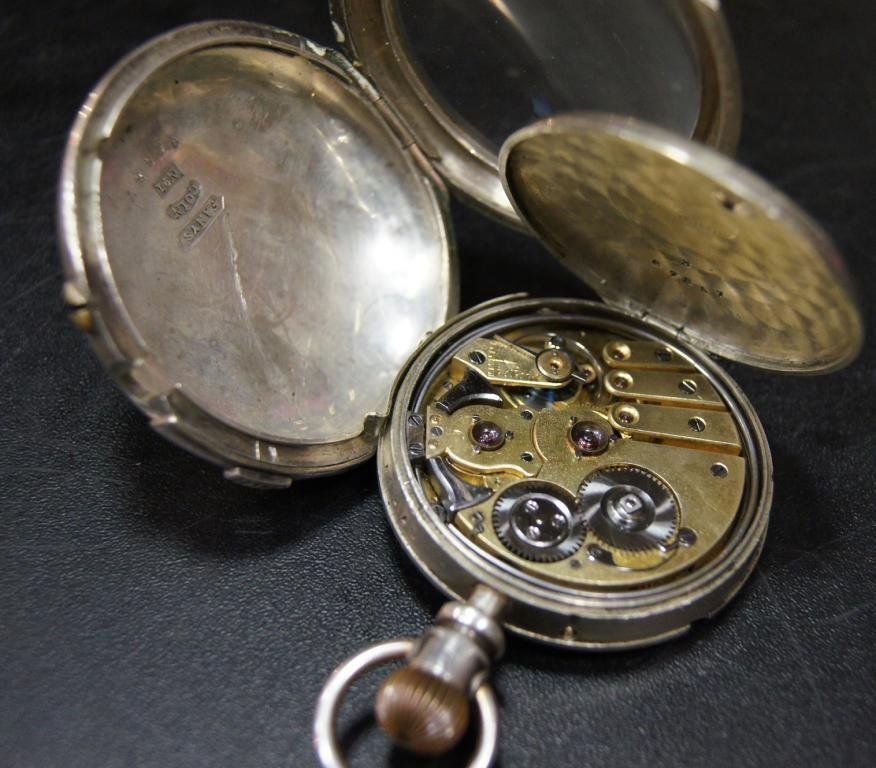 """ANTIQUE SILVER POCKET WATCH 'REPEATER"""""""