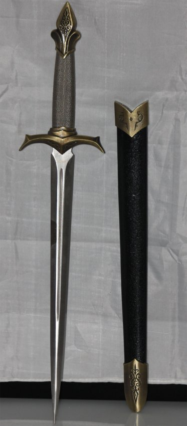 COLLECTABLE MONGOLIAN STYLE STAINLESS STEEL DAGGER.