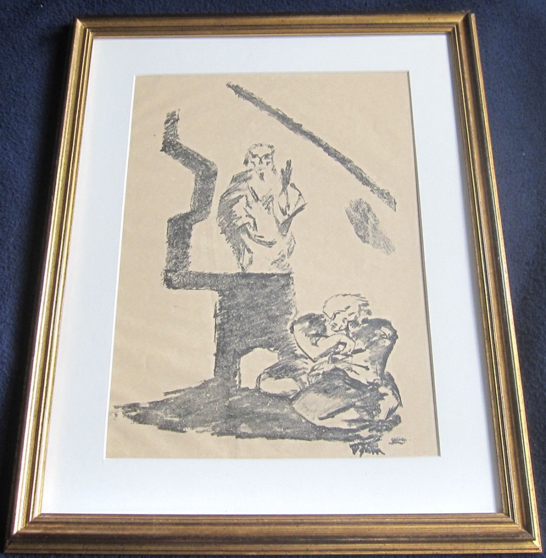 German Expressionist Lithographic Print