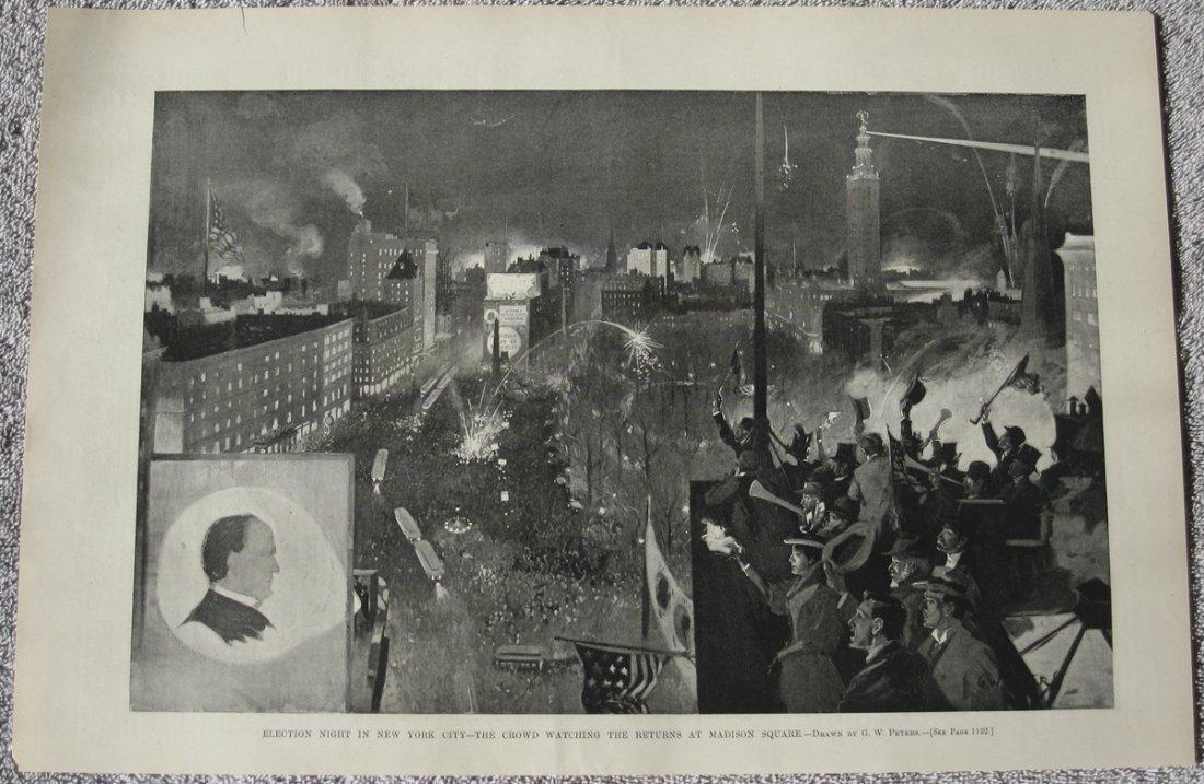 1896 Election Returns in NYC Via Magic Lantern