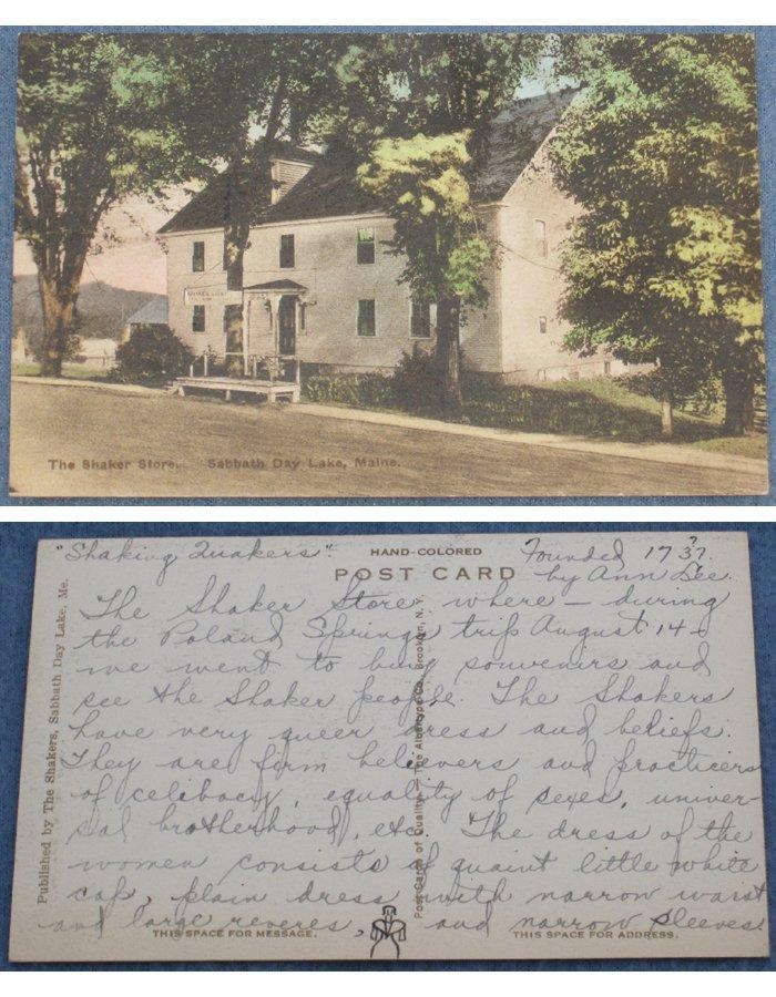 Lot of 8 Shaker Sabbathday Lake, ME, Vintage Postcards