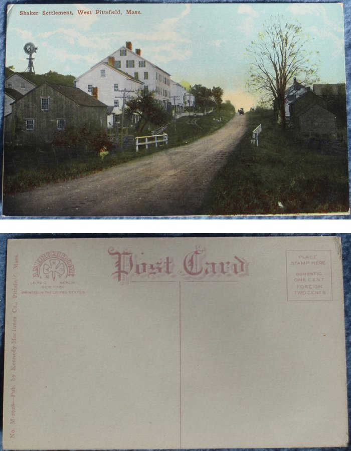 3 Hancock Shaker Village Postcards, West Pittsfield, MA