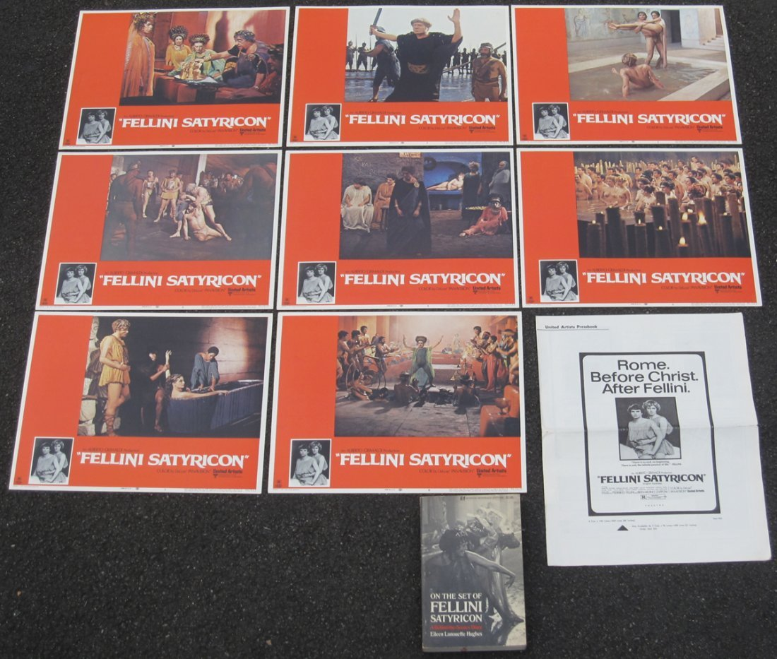 "Complete Set of 8 ""Fellini Satyricon"" 1970 Lobby Cards"