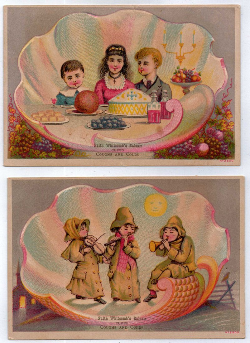 Two 19th Century Shaker Trade Cards