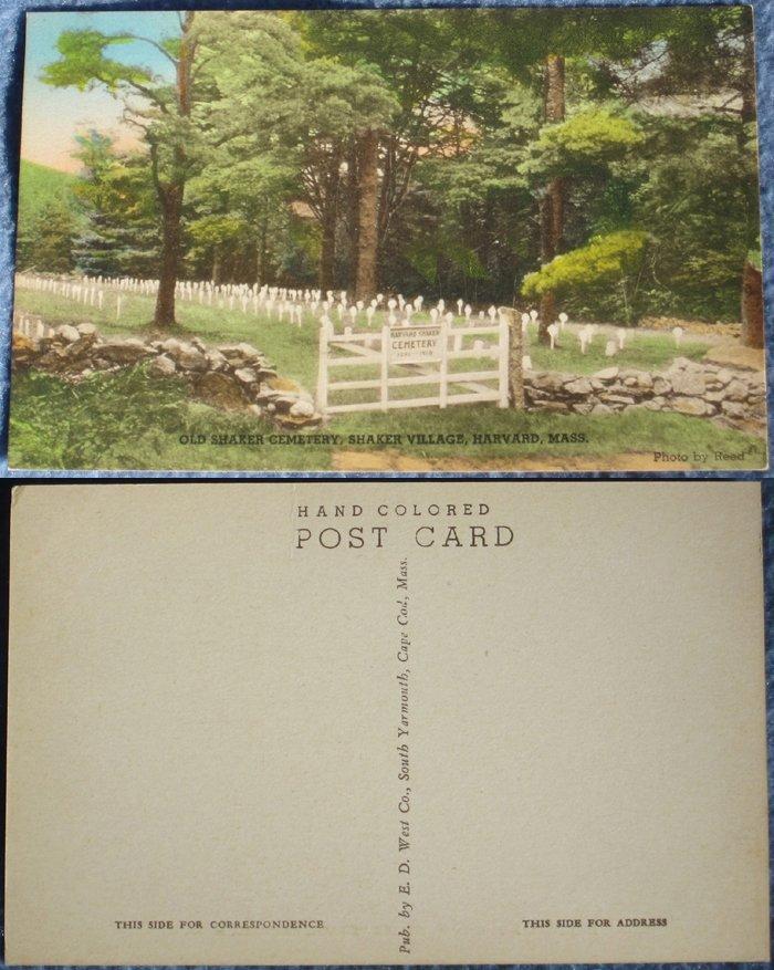 Harvard Shakers Unused Vintage Postcard