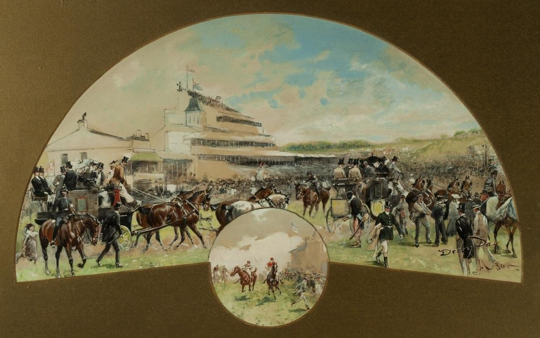 """DERBY DAY"" by John Beer (British, 1860Ð1930)"