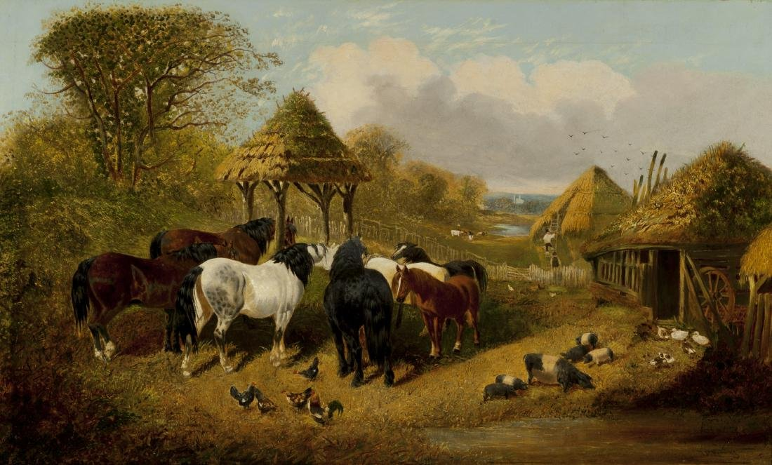 """FARMYARD SCENE"" by John Frederick Herring Jr."