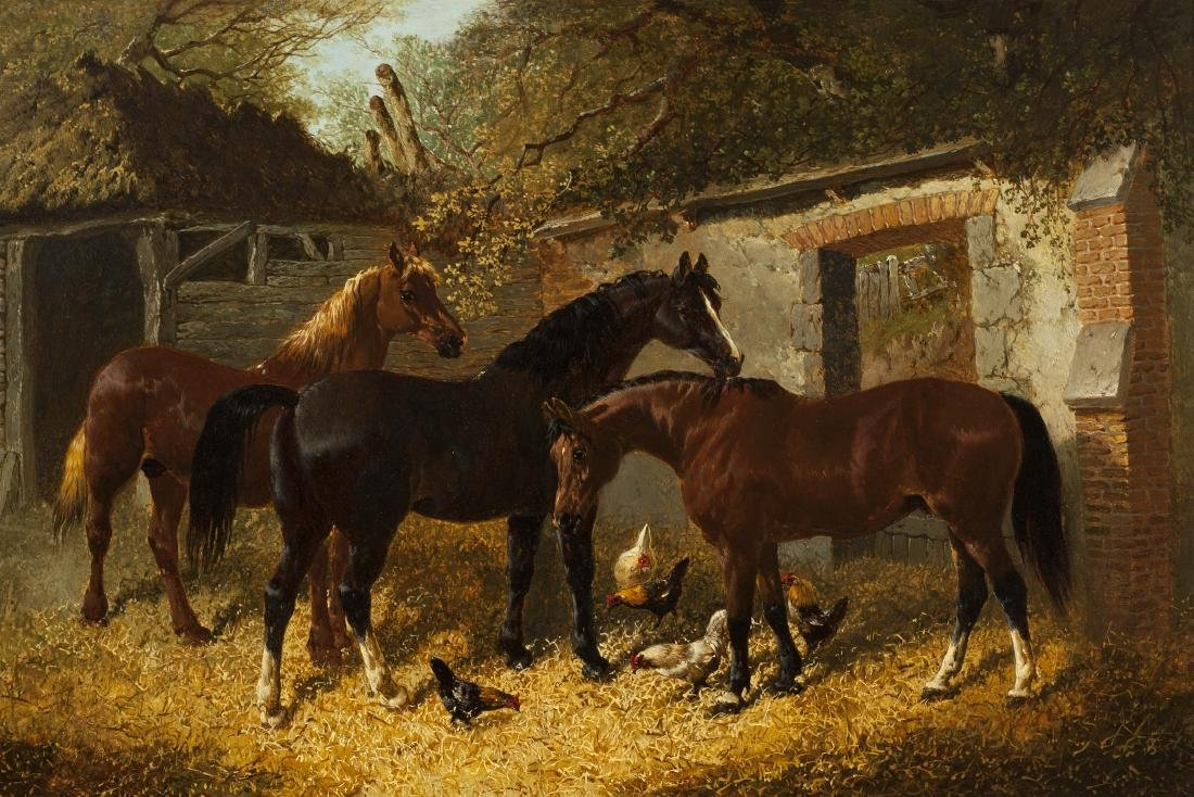 BARNYARD SCENES (two works) by John Frederick Herring
