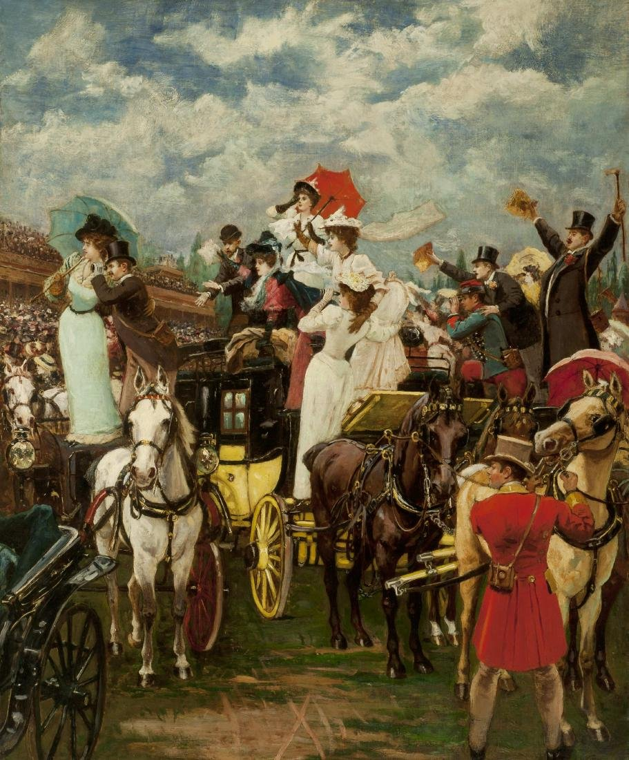 THE GRAND PRIX DE PARIS, 1895 by Gustave Wertheimer