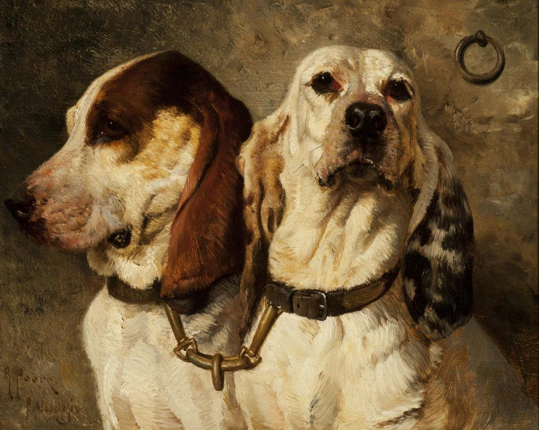 BEAR DOGS by Henry Rankin Poore (American, 1859-1940)