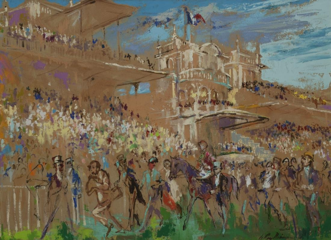 AT THE RACES by LeRoy Neiman (American, 1921-2012)