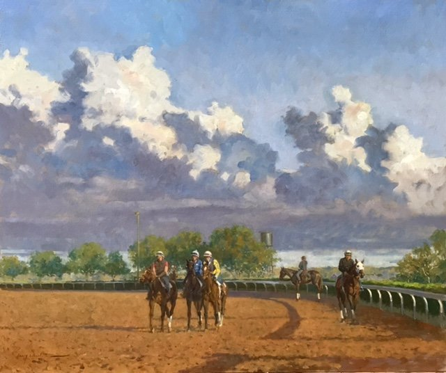 EARLY MORNING ON THE TRACK by Larry Wheeler (American,